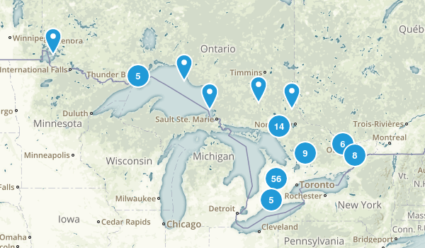 Ontario, Canada Dog Friendly Map