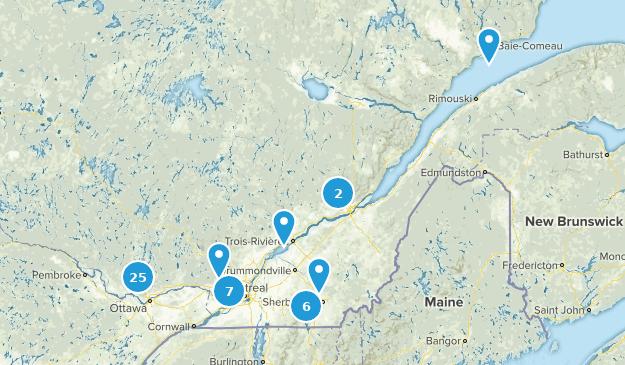 Quebec, Canada Mountain Biking Map