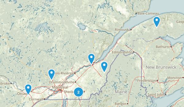 Quebec, Canada Skiing Map