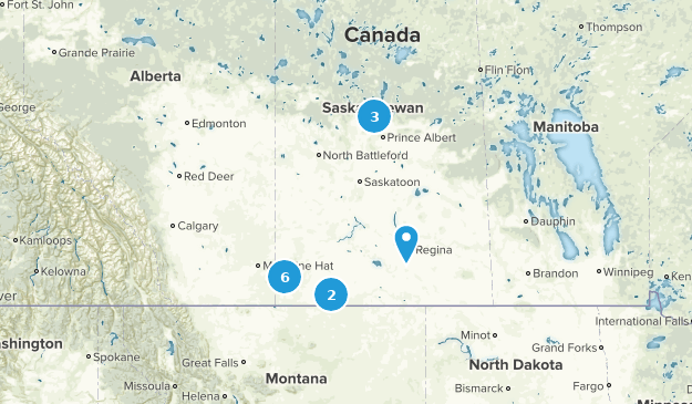 Saskatchewan, Canada Mountain Biking Map