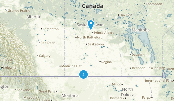 Saskatchewan, Canada National Parks Map