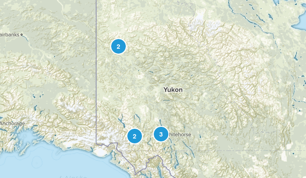 Yukon, Canada Dogs On Leash Map