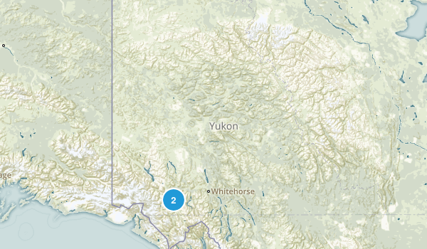 Yukon, Canada National Parks Map