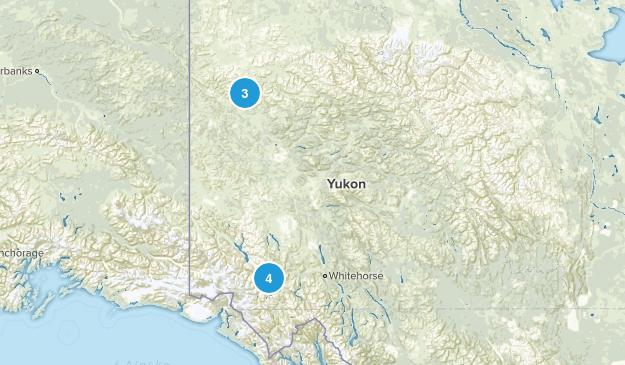 Yukon, Canada Parks Map