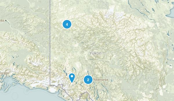 Yukon, Canada Snowshoeing Map