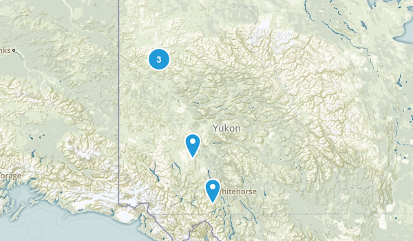 Yukon, Canada Walking Map