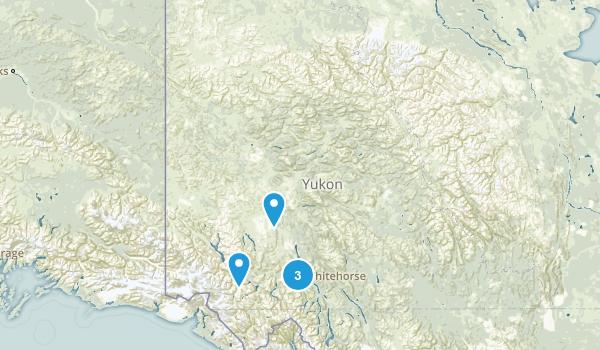 Yukon, Canada Wild Flowers Map