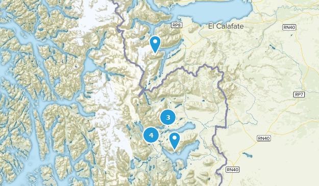 De Magallanes y Antartica Chilena, Chile Lake Map