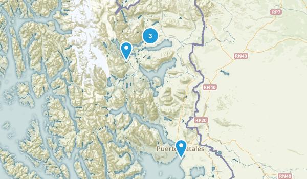 Magallanes y la Antártica Chilena, Chile Walking Map