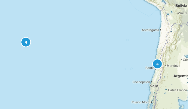 Valparaíso, Chile Hiking Map