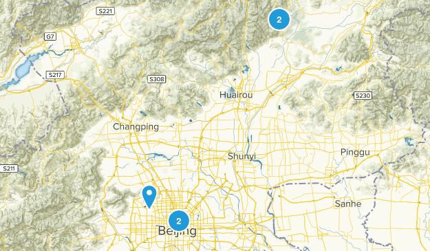 Beijing, China Wild Flowers Map