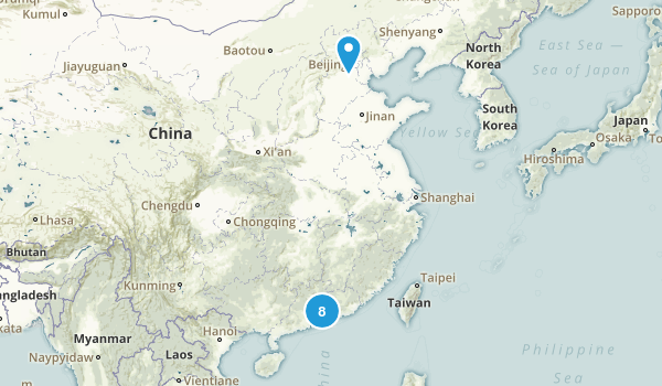 Guangdong, China Birding Map