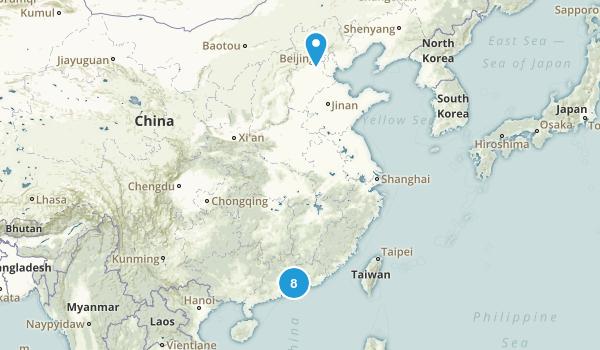 Guangdong, China Wildlife Map