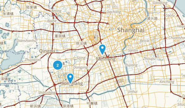 Shanghai, China Parks Map