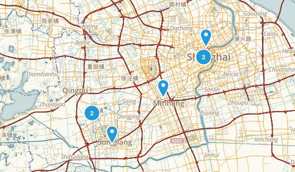 Shanghai, China Walking Map
