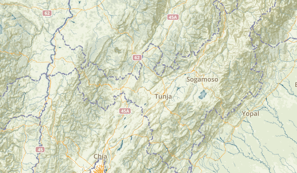 Boyacá, Colombia National Parks Map