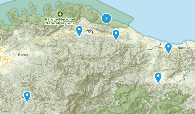 Magdalena, Colombia Hiking Map