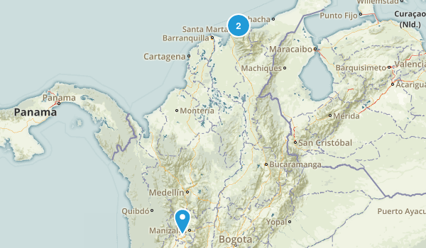 Magdalena, Colombia Parks Map