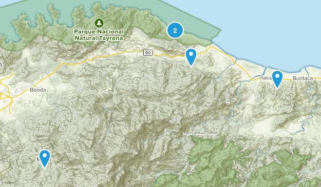 Magdalena, Colombia Walking Map