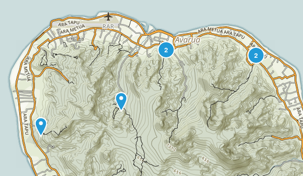 Rarotonga, Cook Islands Hiking Map