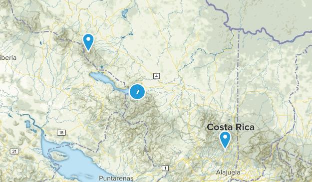 Alajuela, Costa Rica Hiking Map