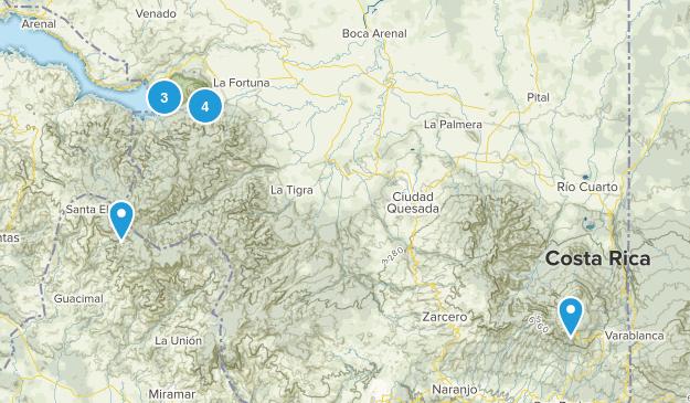 Alajuela, Costa Rica Nature Trips Map