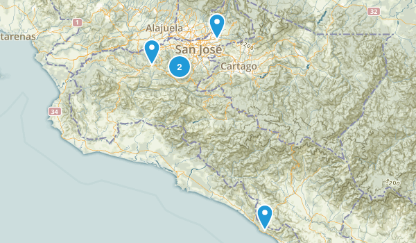 San José, Costa Rica Nature Trips Map