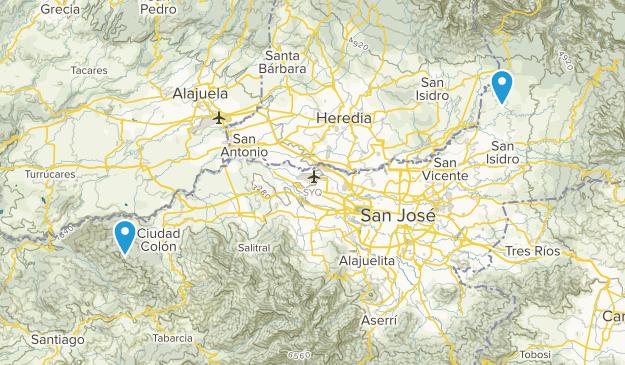 San José, Costa Rica Parks Map