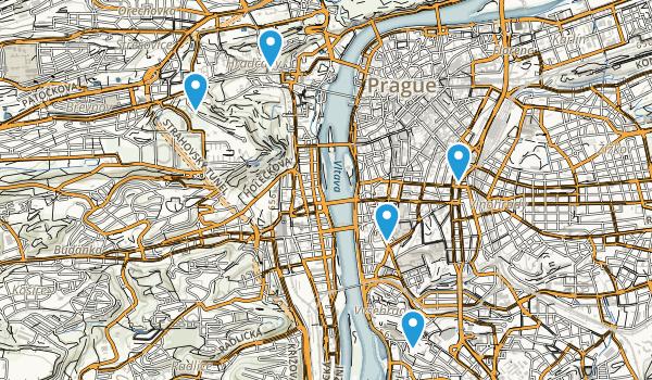 Hlavní město Praha, Czech Republic Walking Map