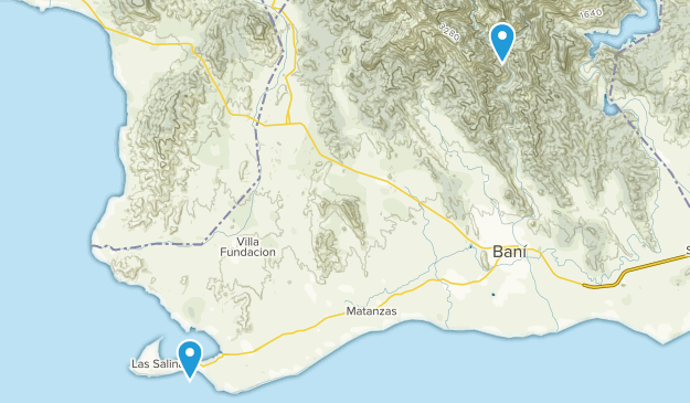 Peravia, Dominican Republic Parks Map