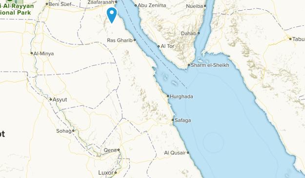 Al Bahr al Ahmar, Egypt Parks Map