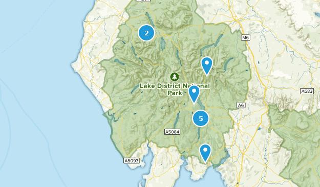 Cumbria, England Mountain Biking Map