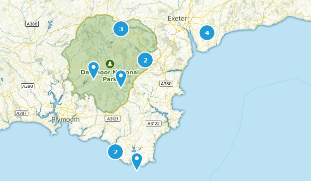 Devon, England Nature Trips Map