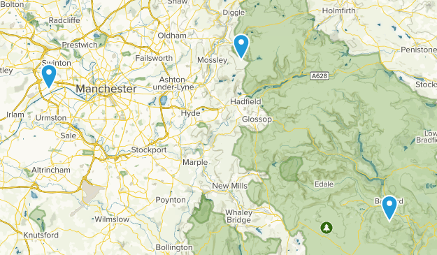 Greater Manchester, England Parks Map