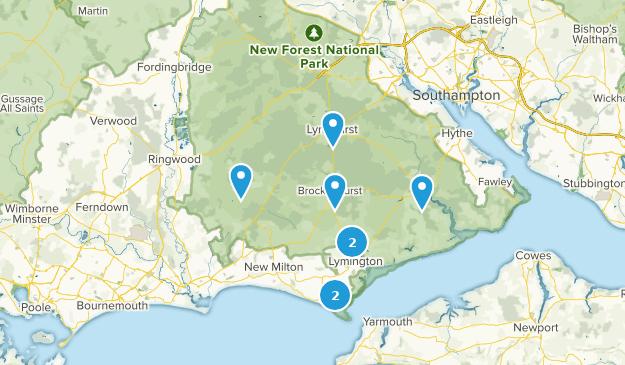 Hampshire, England Historic Site Map