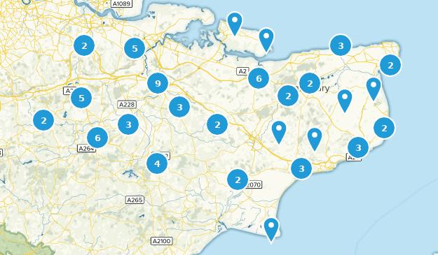 Kent, England Kid Friendly Map