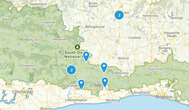 West Sussex, England Bird Watching Map