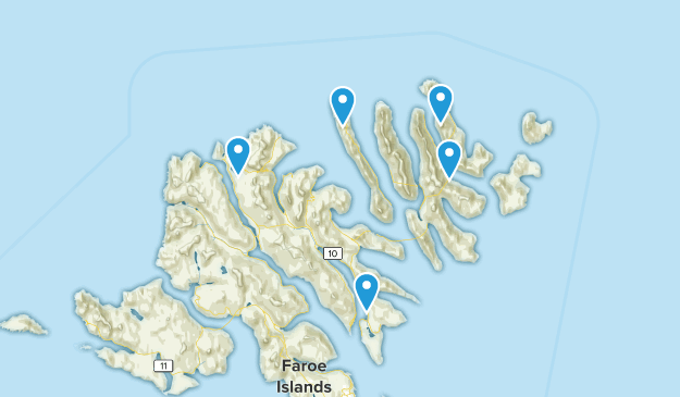 Eysturoyar, Faroe Islands Hiking Map