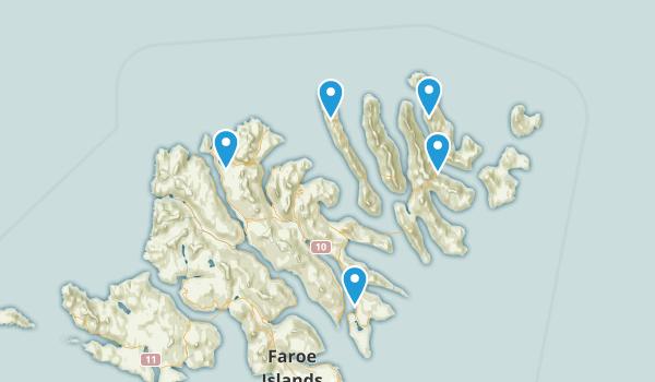 Eysturoyar, Faroe Islands Nature Trips Map