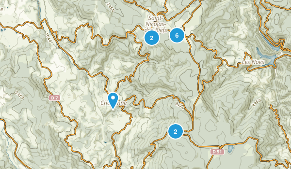 Allier, France Hiking Map