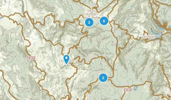 Allier, France Walking Map