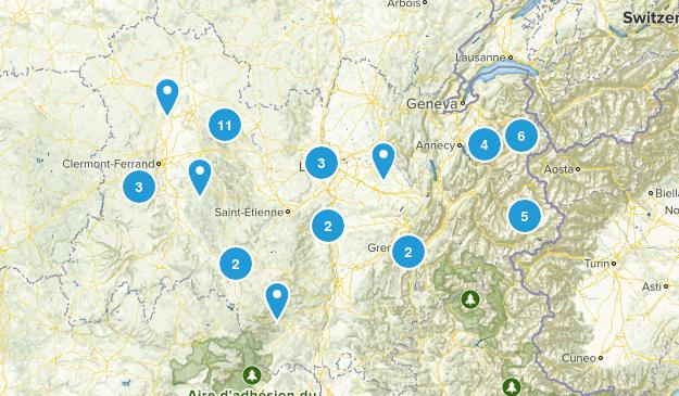 Auvergne-Rhône-Alpes, France Walking Map
