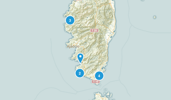 Corse-du-Sud, France Hiking Map