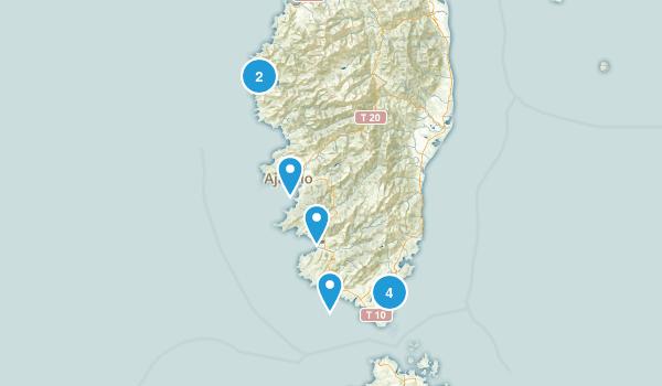 Corse-du-Sud, France Kid Friendly Map