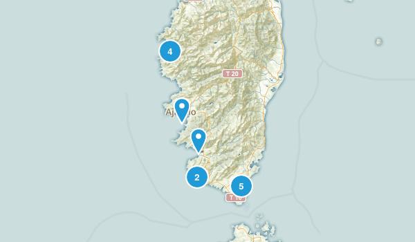Corse-du-Sud, France Views Map