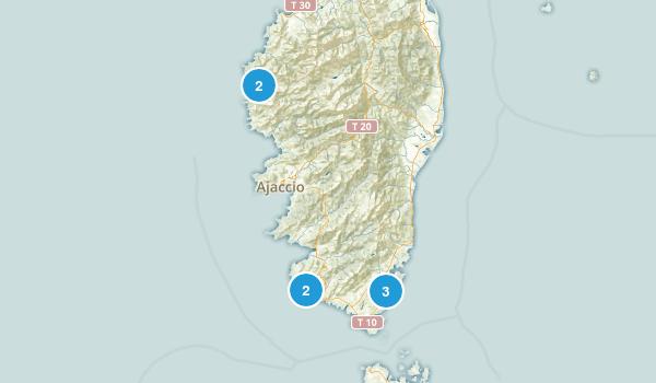 Corse-du-Sud, France Wildlife Map