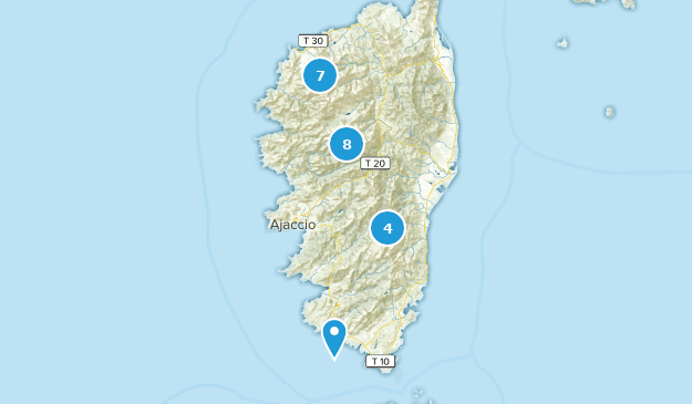 Corsica, France Camping Map