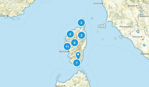 Corsica, France Nature Trips Map