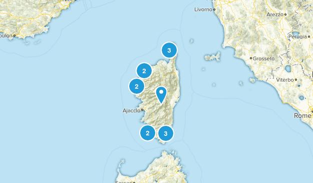 Corsica, France Wildlife Map