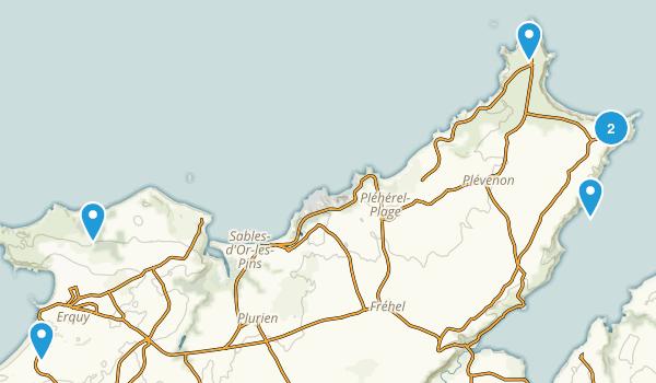 Côtes-d'Armor, France Hiking Map